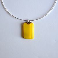 "LEMON pendant with 18"" sterling silver neck wire"