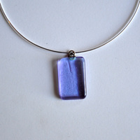 "PURPLE RAIN pendant with 18"" sterling silver neck wire"